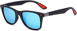 Fashion Fishing Driving Outdoor Ultralight Sunglasses Polarized Mens TR Sunglasses Retro (Color : E Blue, Size : Free)