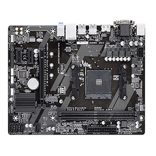 KKLL Placa Base de computadora Apta para Placa Base Gigabyte A320M S2H M-ATX AMD A320 / DDR4 / M.2 / USB3.1 / STAT3.0 / SSD 32G Channel Socket AM4 Mainboard