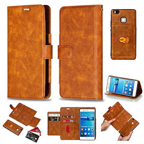 Stengh Coque pour Huawei P9 Lite VNS-L31 VNS-L21 Flip Leather + TPU Silicone Fixing Case Cover 1