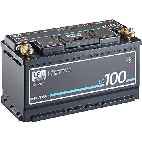 ECTIVE LC100 LT 12V 100Ah 1280Wh -30 Grad Low Temperature LiFePO4 Lithium-Eisenphosphat Versorgungs-Batterie mit Bluetooth-Funktion und App