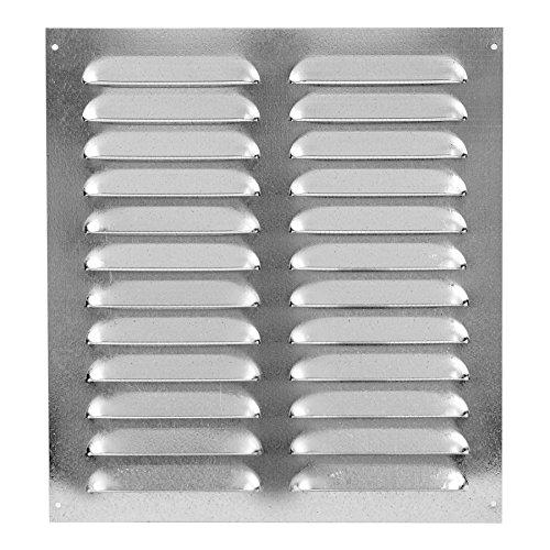 Preisvergleich Produktbild 260x280mm Verzinkt Lüftungsgitter Abschlussgitter mit Insektenschutz Abluft Zuluft Metall Gitter