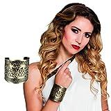 NET TOYS Brazalete Antigua - Dorado | Pulsera de Diosa | Bisutería Romana | Joyería Disfraz Gladiador