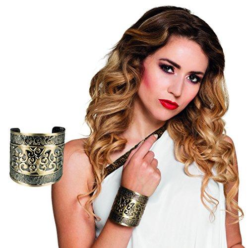NET TOYS Ägyptischer Schmuck Armreif Römerin Armband Gold Griechin Armspange Griechische Göttin Armschmuck