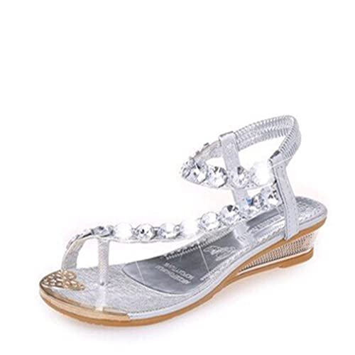 bc2aa94c6573 VWH Ladies Women Bling Crystal Rhinestone Flip Flops Flat Sandals