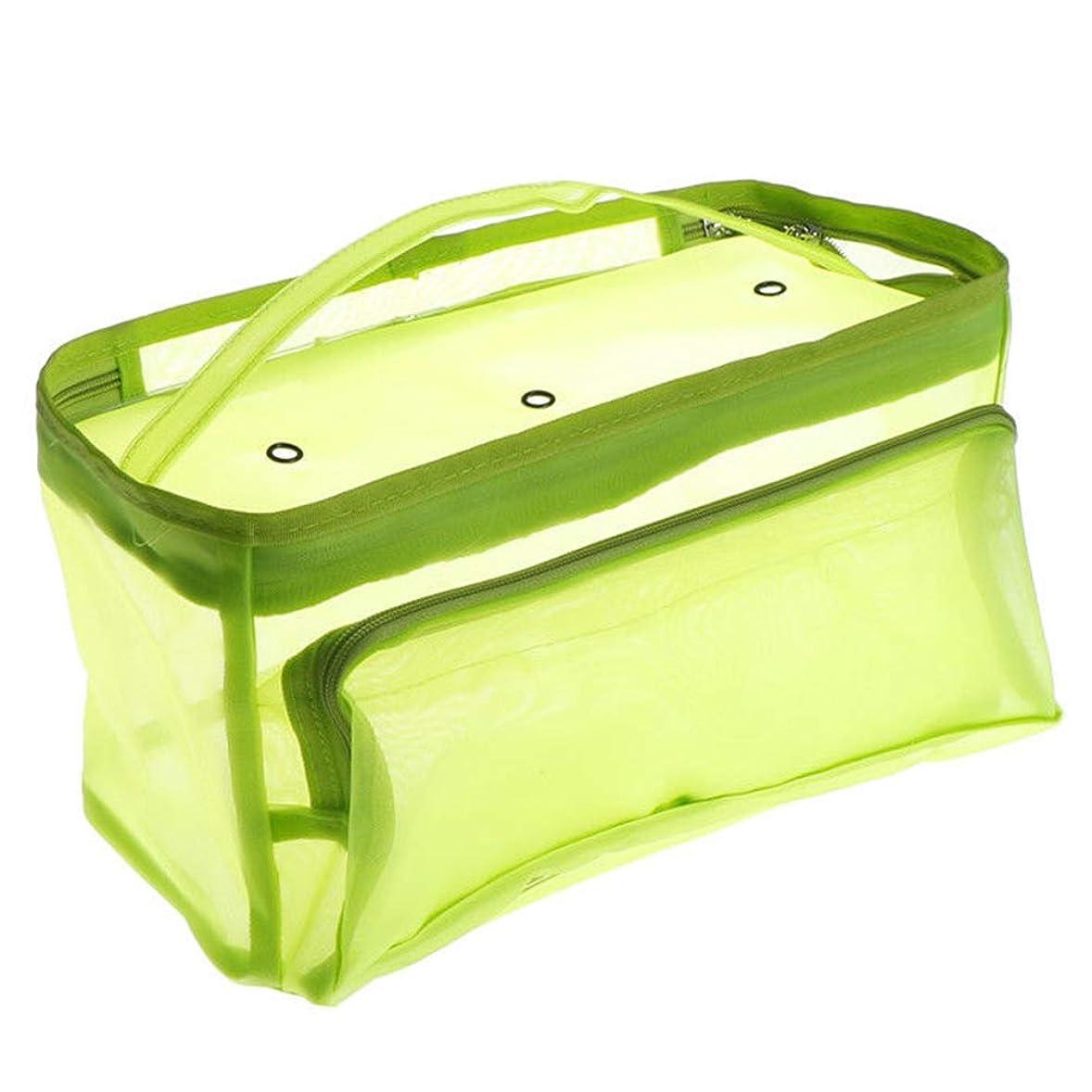 取得する宿る原油収納ケースタンカーケース糸クリアトートかぎ針編みフックコンテナミシンバッグニットバッグオーガナイザー針ホルダー(グリーン)