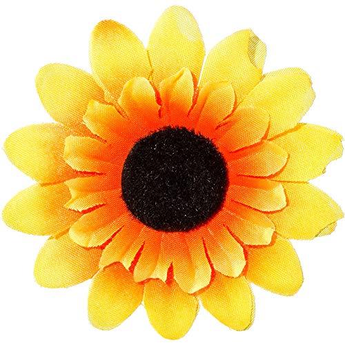 WOOOOZY Sonnenblume mit Anstecknadel, Ø 5 cm