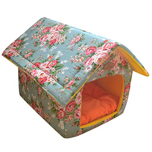 Pet Dog Bed, Dog Houses for Large Dogs Indoor Pet Cat Tent Soft Foldable Sleeping Puppy Kennel Winter Warm Nest Cave