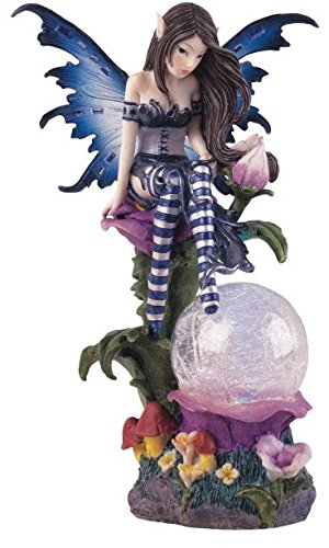 George S. Chen Imports SS-G-91273 Fairy Collection Crystal Ball LED Light Figure Decoration Collectible