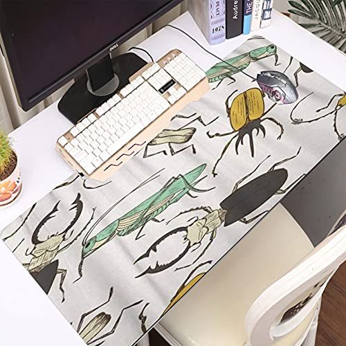FAQIMEI Alfombrilla Gaming para PC Marrón Bicho Dibujos Animados Divertido Saltamontes Ciervo Escarabajo Infantil Pa Máxima Precisión con Base de Caucho Natural, Máxima Comodidad