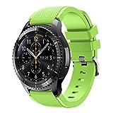 Bracelet de montre pour Gear S3, strir [Serie Sport] Bracelet de Silicone 22mm...
