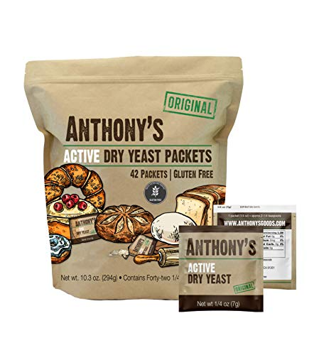 Anthony's Active Dry Yeast Packets, Contains 42 Individual Packets, Gluten Free