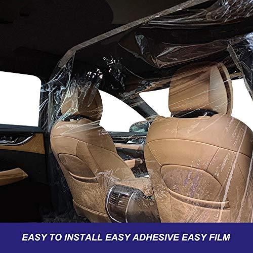 PVC Isolierfolie für Autos, transparenter Trennvorhang für das Cockpit des Autos, Isolierfolie für die vordere und hintere Reihe des Autos, selbstklebend, einfache Installation für Auto, SUV, Taxi