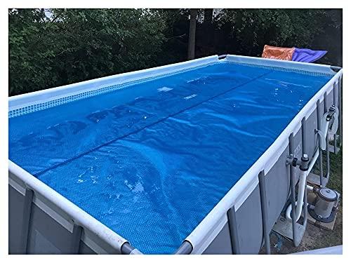Pool Cover Solar, calentador de piscina sobre el suelo de invierno, cubierta solar rectangular azul para piscinas en tierra, 6/8/10/14/16/18/20/2.2 pies (tamaño: 1 m x 1 m) (tamaño: 5 m x 8 m)