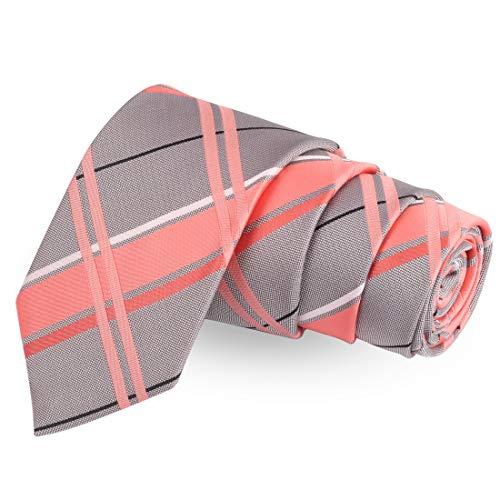 Peluche Modish Dappled Pink Colored Microfiber Necktie For Men