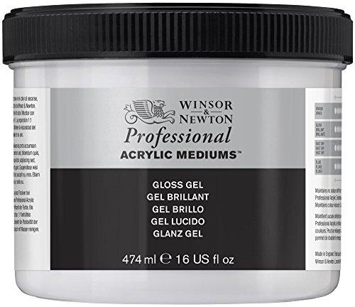 Winsor & Newton Medium - Gel acrilico lucido, 474 ml