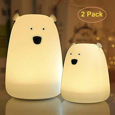 GreenClick Polar Bear Silicone Night Lights