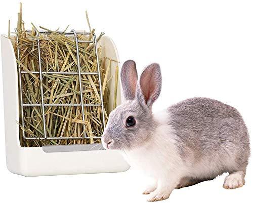 GZGZADMC - Comedero para Conejo,Alimentador de Heno Portátil Menos Desperdiciado para Conejos, Cobayas, Chinchilla, Dispensador de Alimentos De Plástico