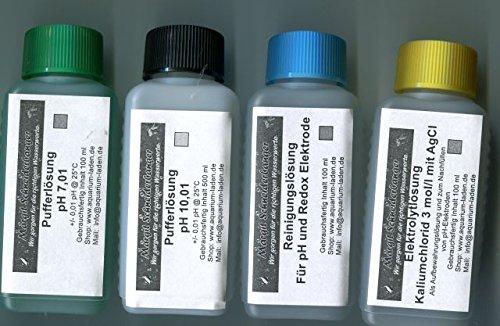 Schneiderbanger Kalibrier- und Pflegeset für pH-Elektroden 4 x 100 ml mit pH 7,01 und 10,01