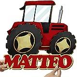 Elbeffekt Traktor Geschenk aus Holz - personalisierbares