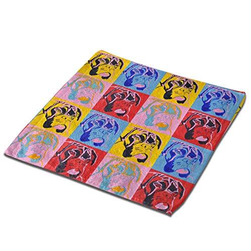 Juego de toallas de baño, 1 paquete para baño, hotel, spa, cocina, multiusos, con punta de los dedos y paños faciales, 33 x 33 cm, estilo boxeador para amantes de los perros