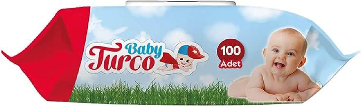 Baby Turco Islak Havlu Mendil 100 Yaprak, Plastik Kapaklı