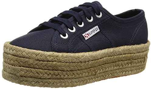 Superga Damen 2790 Cotropew High-Top, Blau (Navy), 35 EU