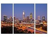 Leinwandbild Perth Skyline Triptychon II Australien