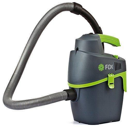 Fox Trockensauger tragbar 1200W 6l-Behälter mit Zubehör (Saugrohr, Fugendüse mit aufsetzbarer Bürste, Motorfilter und Staubbeutel)