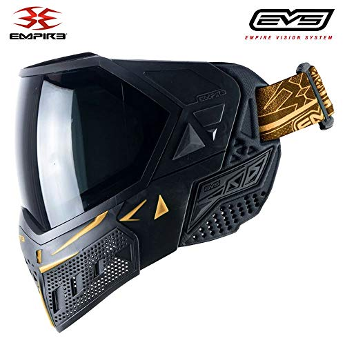 Empire EVS Thermal Paintball Mask/Goggle - 2 Thermal Lenses - Black/Gold