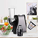 Flyerstoy-Professional-Salad-Maker-Electric-SlicerShredder-with-One-Touch-Control-and-4-Free-Attachments-for-fruits-vegetables-and-cheeses-Black