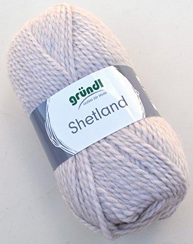 Gründl Wolle Shetland Farbe 05 - hellgrau melange - Handstrickgarn in Pastelltönen zum Stricken & Häkeln