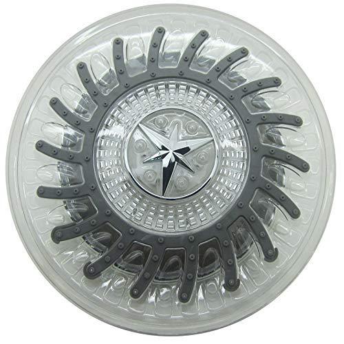 KANJJ-YU Baño Ducha Ronda cabezal de ducha de pulverización superior de potencia de control de temperatura LED de tres colores pulverización superior Baño