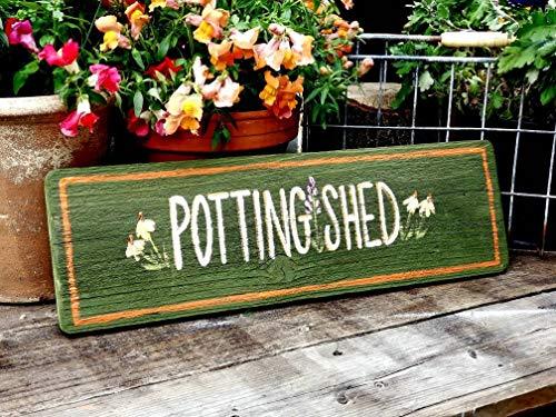 NoBrands Potting shed,garden gift,wooden garden sign,rustic garden sign,unique home decor,custom garden sign,farmhouse decor,outdoor sign for home
