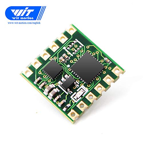 WitMotion WT61 Plus High-Accuracy 6-Axis MPU6050 Acceleration Sensor, Angle+Gyroscope+Accelerometer+Quaternion(200HZ Output), Unaffected by Magnetic Field, AHRS IMU for Arduino and More