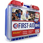 Be Smart Get Prepared 10HBC01082 100Piece First Aid Kit, Clean, Treat & Protect Most Injuries With The Kit that is great… 11 Manufactured by the #1 leading manufacturer of First Aid Kits in the USA. 100 pieces of comprehensive first aid treatment products. This Kit meets United States FDA Regulatory Standards as a Medical Device. Ideal for most businesses and perfect for family use at home or travel. Fully organized interior compartments provides quick access. The rugged, sturdy, high density plastic case is impact resistant