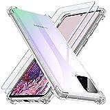 Losvick Coque pour Samsung Note 10 Lite, Coque pour Galaxy A81, 2X Verre Trempé Protection écran,...