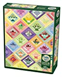 Cobble Hill 1000 Piece Puzzle - Fruit Basket Quilt - Sample Poster Included