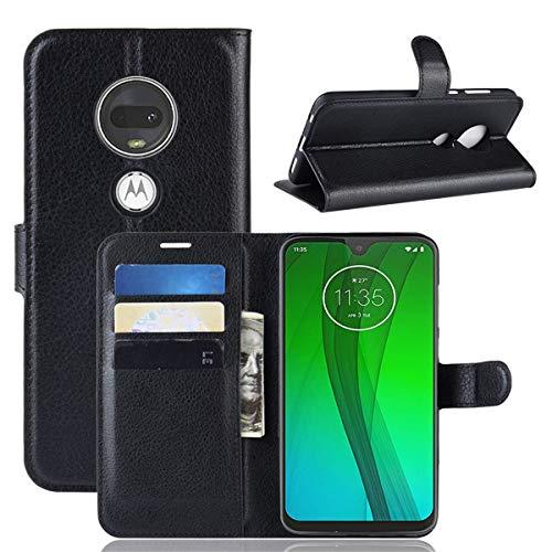 Capa Capinha Carteira Case 360 Para Motorola Moto G7 e G7 Plus Couro Sintético Flip Wallet Para Cartão - Danet (Preta)