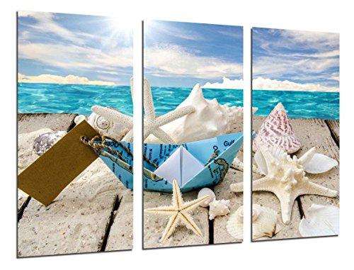 Poster Fotográfico Paisaje Mar Vintage, Conchas, Caracolas, Playa, Arena Tamaño total: 97 x 62 cm XXL