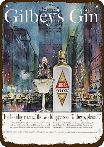 1959 Gilbey'S Gin Vintage Look Replica Metal Sign 7