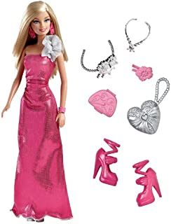 Barbie in Pink Evening Gown with Accessories