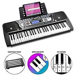 54 tasti full-size conferiscono alla tastiera un tocco di pianoforte tradizionale Compatto e portatile; può essere facilmente preso sulla strada Funzionalità di registrazione e riproduzione, 8 brani demo, più modalità di insegnamento, 100 effetti son...
