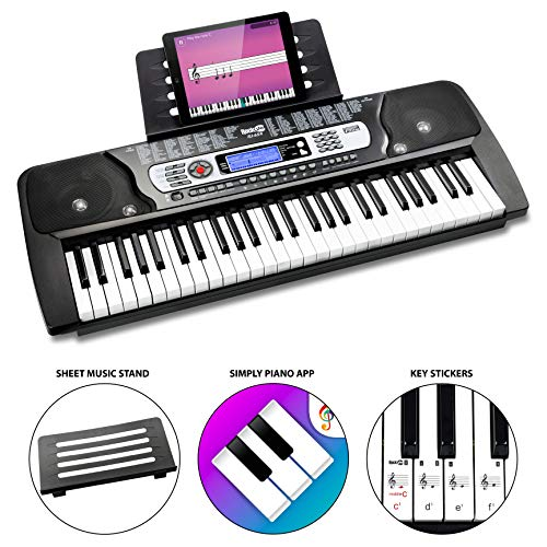 RockJam RJ654  54 Key Keyboard Piano with Sheet Music Stand Piano Note...