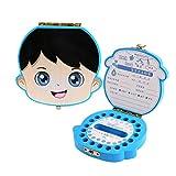EEGR Caja para Guardar los Dientes de bebé Organizador de Ahorro Caja de Almacenamiento de Memoria Caja de Recuerdos para bebés niños niñas,B