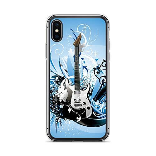 blitzversand Handyhülle Metal PINK kompatibel für LG G5 Gitarre blauweiss Schutz Hülle Case Bumper transparent rund um Schutz Cartoon M11