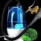 GLX Escalada Humidificador Pet Reptil Tortuga Lagarto Niebla Niebla Automatizado Tortuga Árbol Humidificador Camaleón Rana Caja del Animal Doméstico,Azul