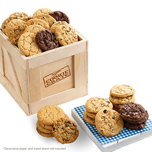 Mrs. Fields Cookies Cookie Crate (40 Count) Includes 5 Different Flavors - Perfect Gift for any Holiday or Occasion