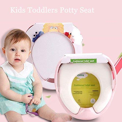 Inchant Eco-Friendly Potty Seat for Boys or Girls Toilet Training, Comfortable,Safe and Soft Kids Children Toddlers Toilet Trainer Seat - Best Gift for Your Baby - Pink