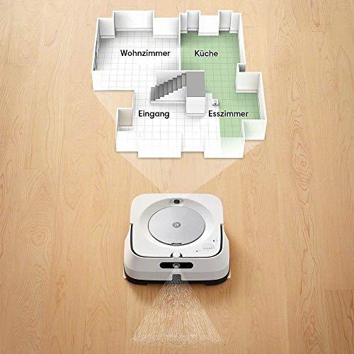 iRobot Braava m6 (m6134) Wischroboter mit WLAN, Präzisions-Sprühstrahl und erweiterter Navigation, Zeitplanreinigung, lernt und passt sich Ihrem Zuhause an, Nass- und Trockenwischen, App-Steuerung - 5