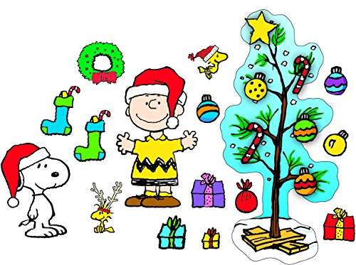 Eureka's Charlie Brown Christmas Bulletin Board Sets, Back to School Classroom Supplies, 18'' x 28'', 27 pc.